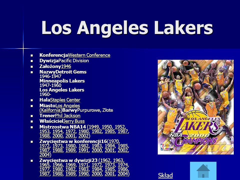 Los Angeles Lakers Skład KonferencjaWestern Conference