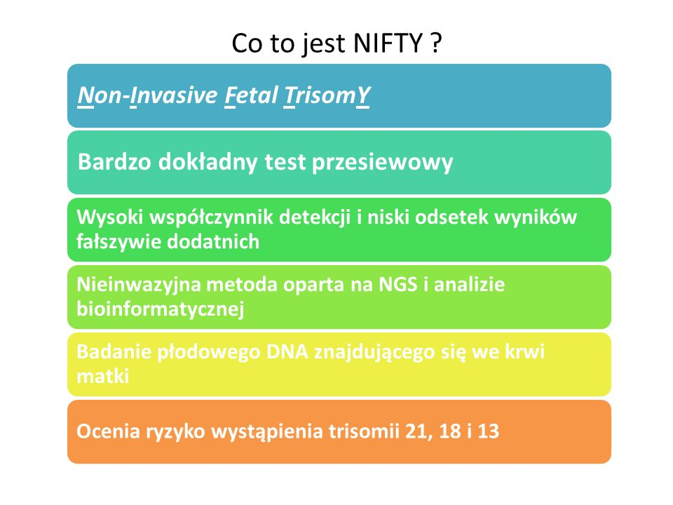 Co to jest NIFTY Non-Invasive Fetal TrisomY