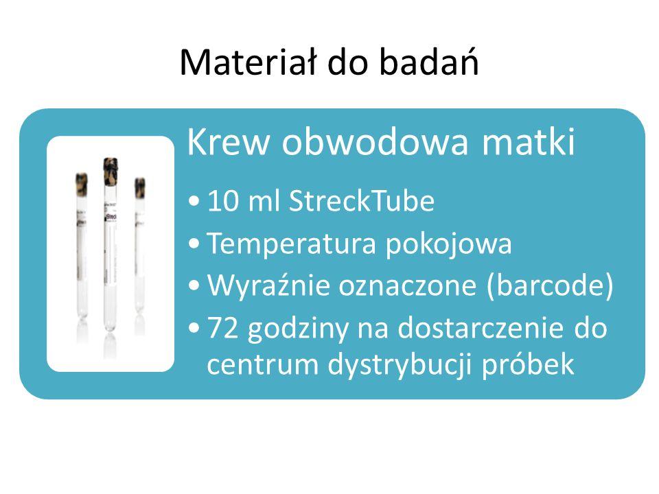 Krew obwodowa matki Materiał do badań 10 ml StreckTube