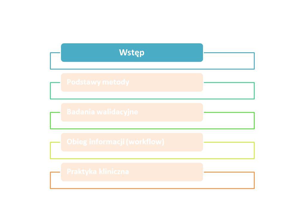 Wstęp Podstawy metody Badania walidacyjne Obieg informacji (workflow)
