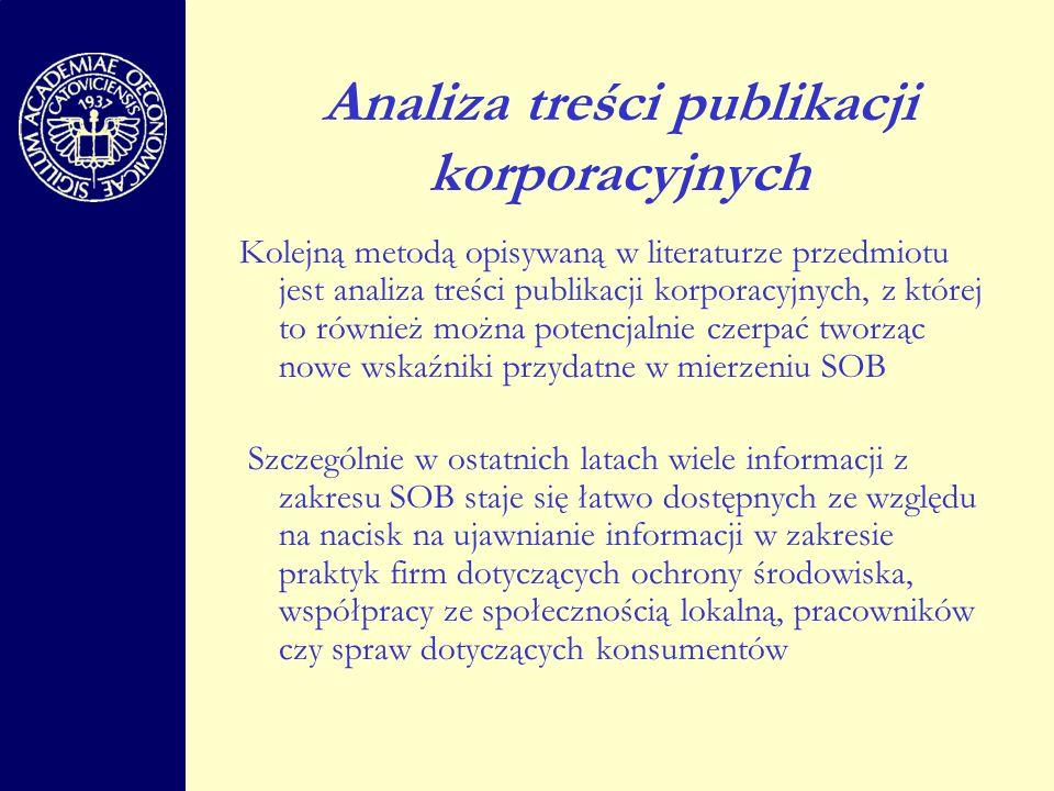 Analiza treści publikacji korporacyjnych