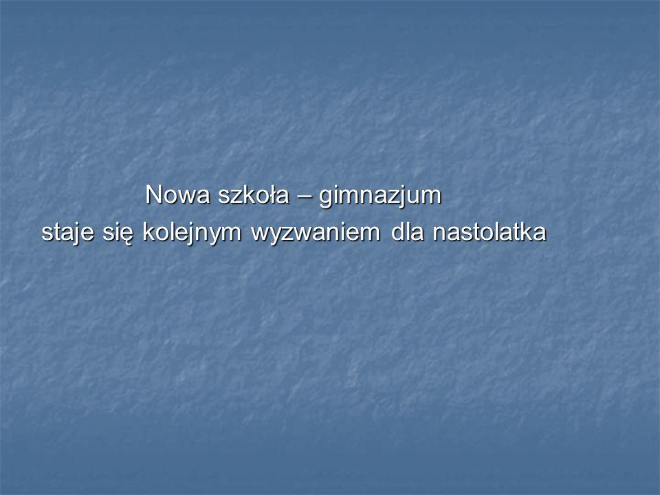 Nowa szkoła – gimnazjum staje się kolejnym wyzwaniem dla nastolatka