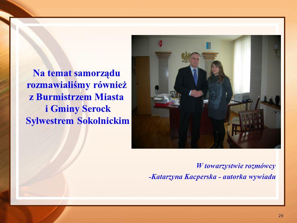 Na temat samorządu rozmawialiśmy również Sylwestrem Sokolnickim