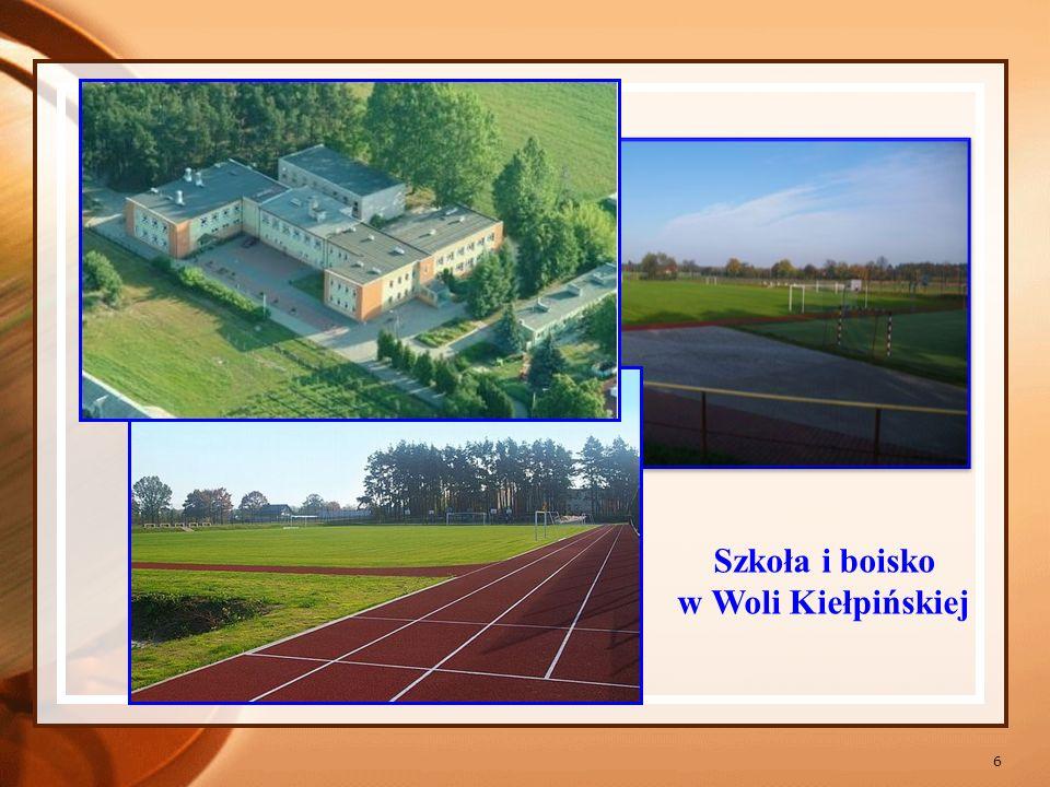 Szkoła i boisko w Woli Kiełpińskiej