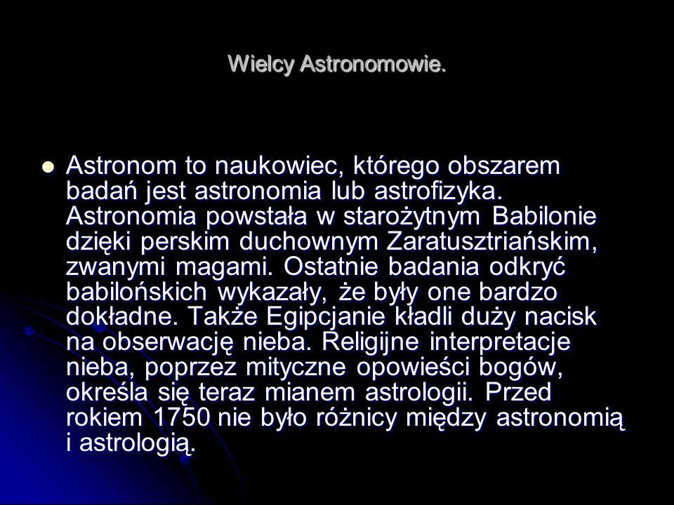 Wielcy Astronomowie.