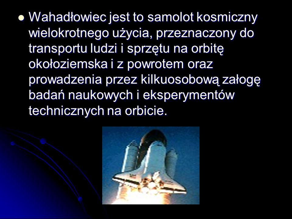 Wahadłowiec jest to samolot kosmiczny wielokrotnego użycia, przeznaczony do transportu ludzi i sprzętu na orbitę okołoziemska i z powrotem oraz prowadzenia przez kilkuosobową załogę badań naukowych i eksperymentów technicznych na orbicie.