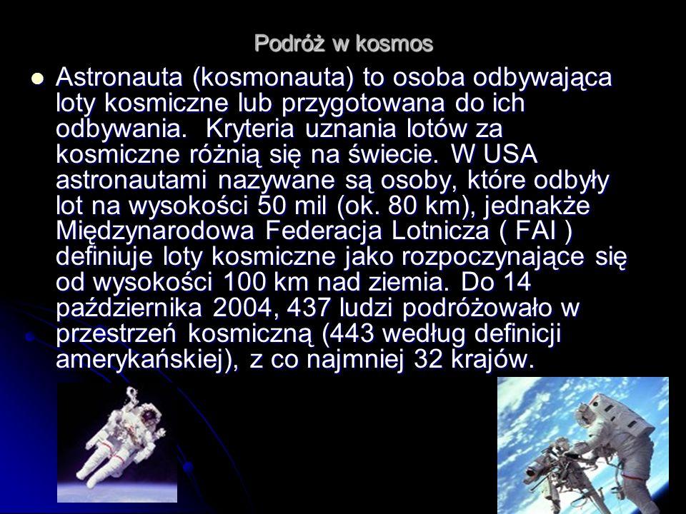Podróż w kosmos