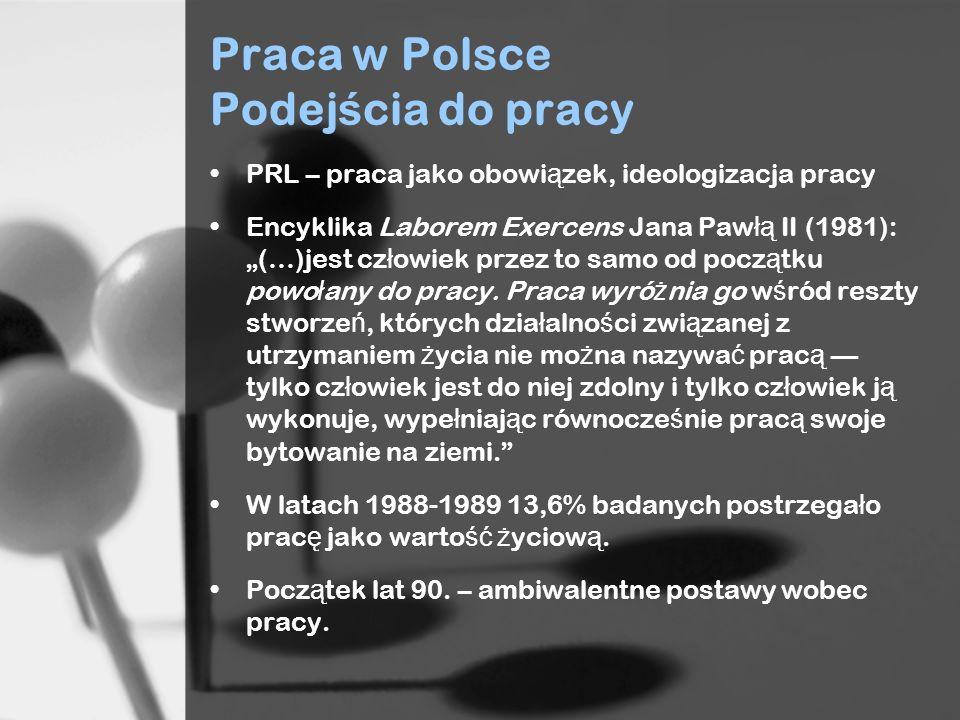 Praca w Polsce Podejścia do pracy