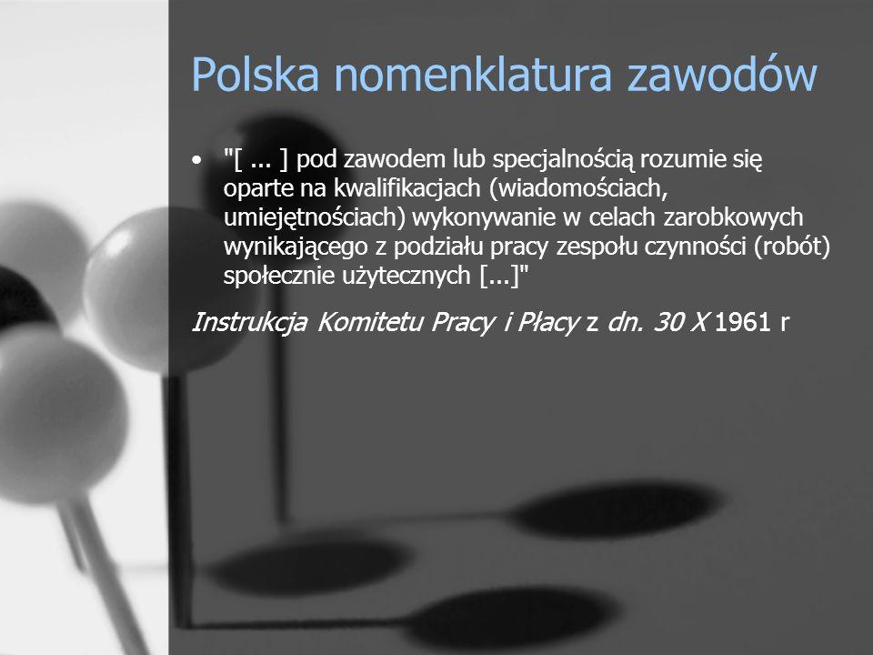 Polska nomenklatura zawodów