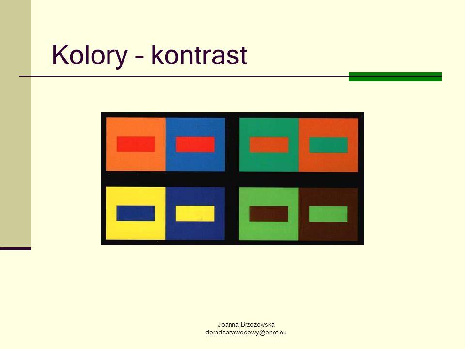 Kolory – kontrast Joanna Brzozowska doradcazawodowy@onet.eu