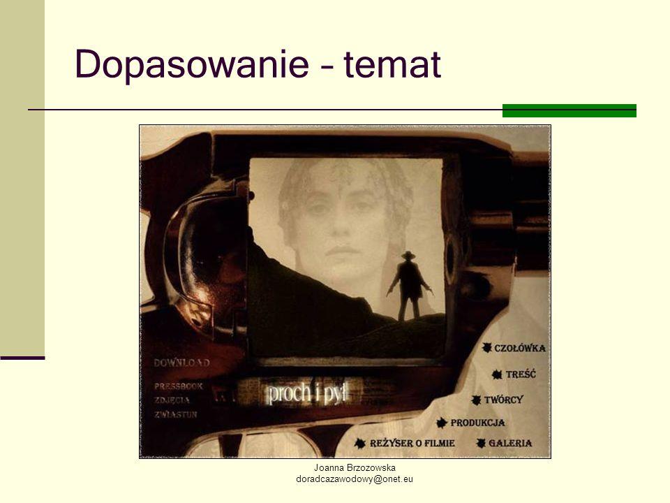 Dopasowanie – temat Joanna Brzozowska doradcazawodowy@onet.eu
