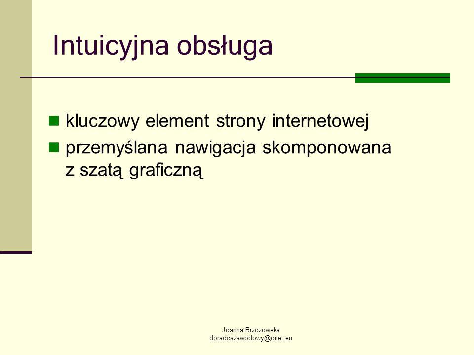 Intuicyjna obsługa kluczowy element strony internetowej