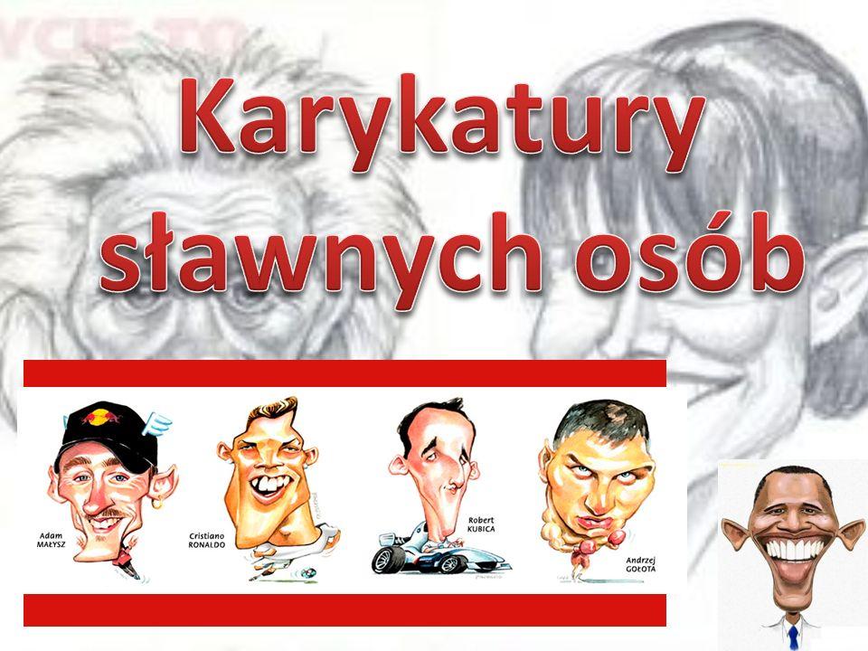 Karykatury sławnych osób