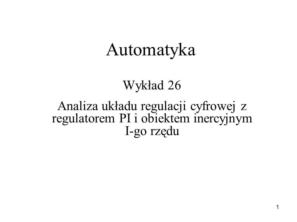 Automatyka Wykład 26.