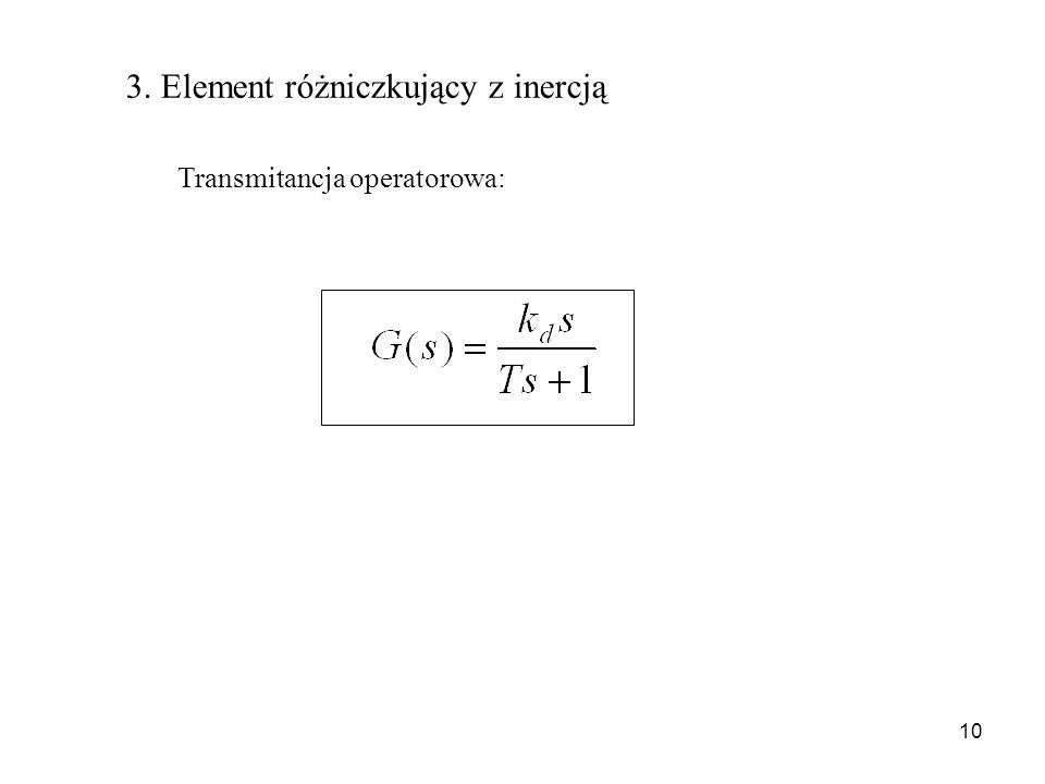3. Element różniczkujący z inercją