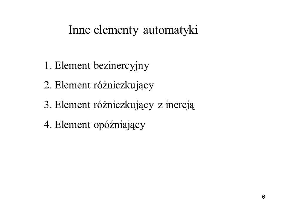Inne elementy automatyki
