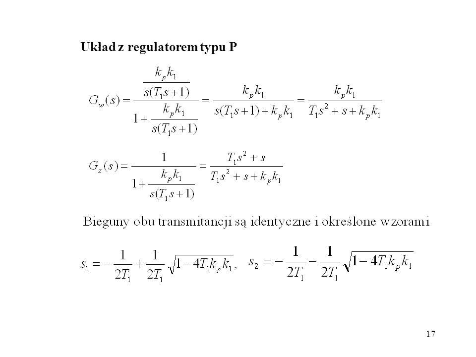 Układ z regulatorem typu P
