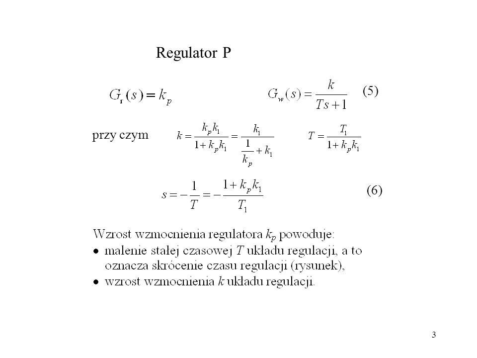Regulator P (5) przy czym (6)