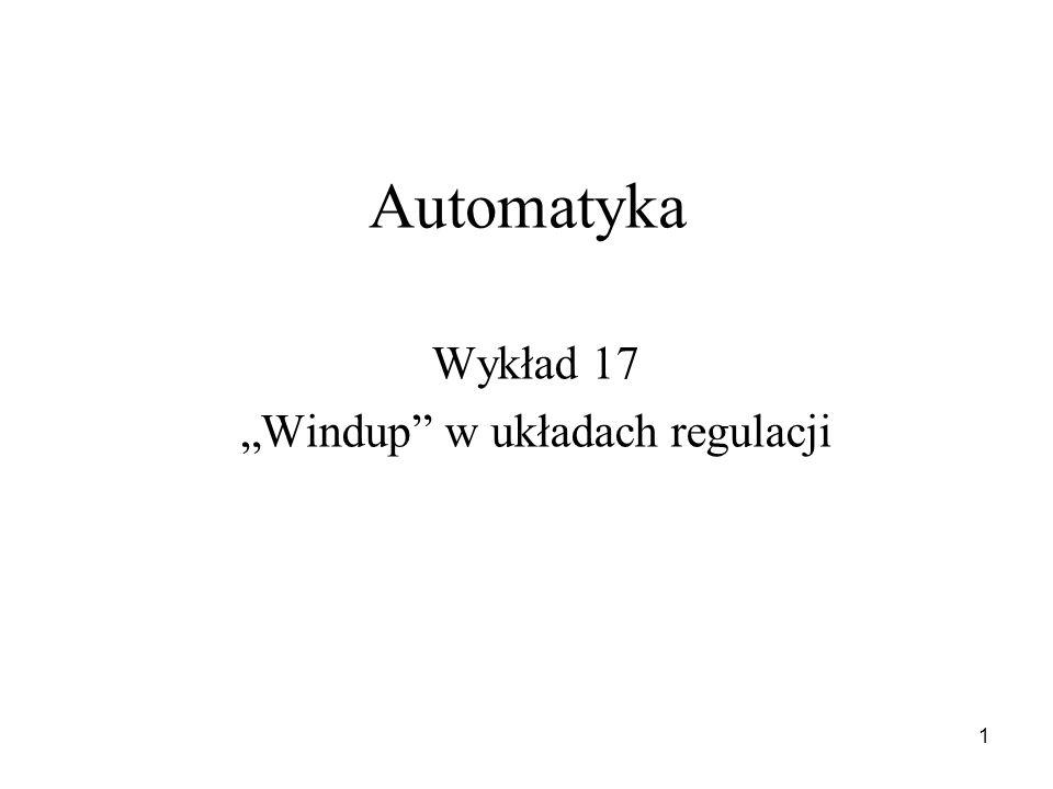 """""""Windup w układach regulacji"""