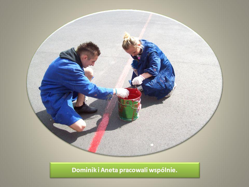 Dominik i Aneta pracowali wspólnie.