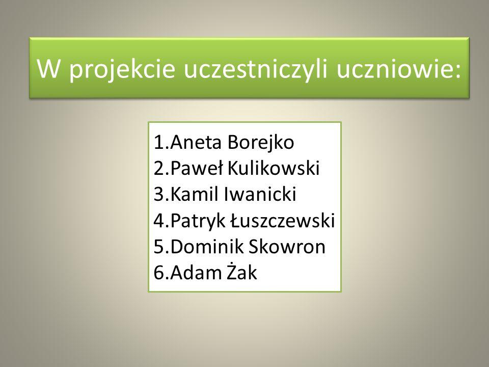 W projekcie uczestniczyli uczniowie: