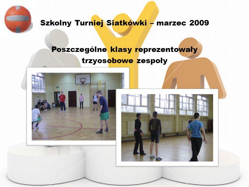 Szkolny Turniej Siatkówki – marzec 2009