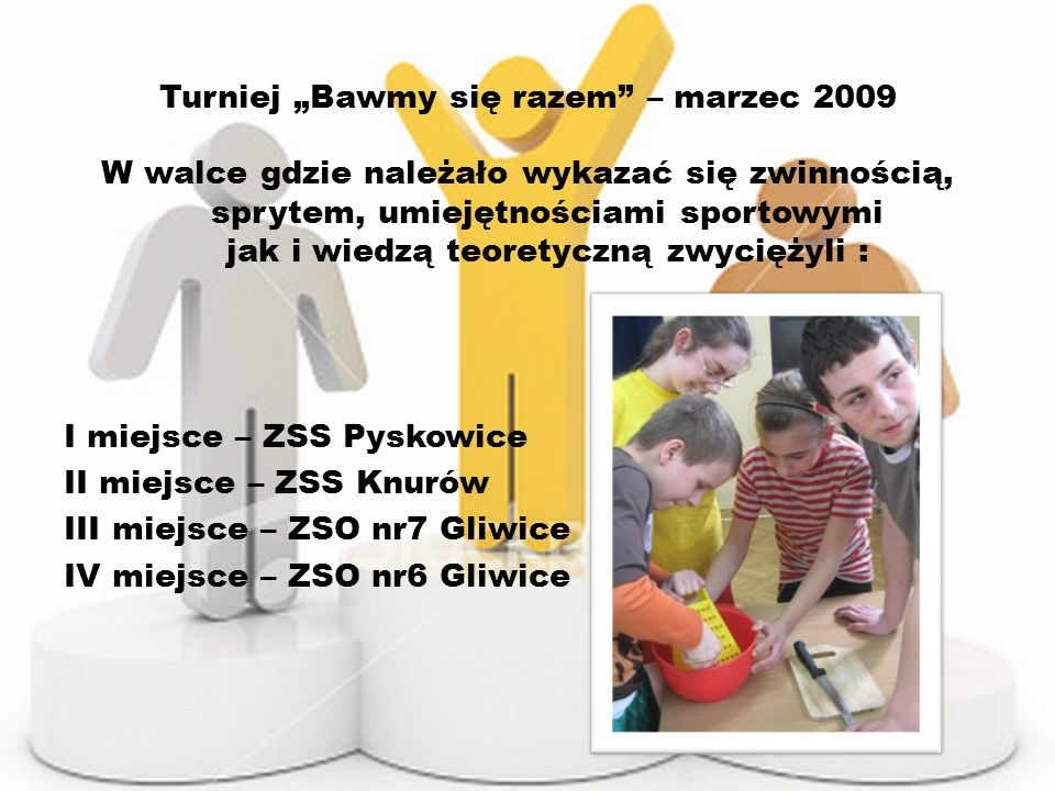 """Turniej """"Bawmy się razem – marzec 2009"""
