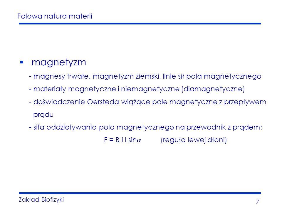 magnetyzm - magnesy trwałe, magnetyzm ziemski, linie sił pola magnetycznego. - materiały magnetyczne i niemagnetyczne (diamagnetyczne)