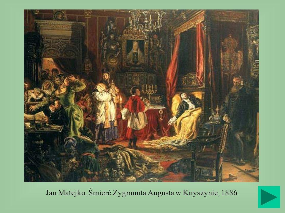 Jan Matejko, Śmierć Zygmunta Augusta w Knyszynie, 1886.