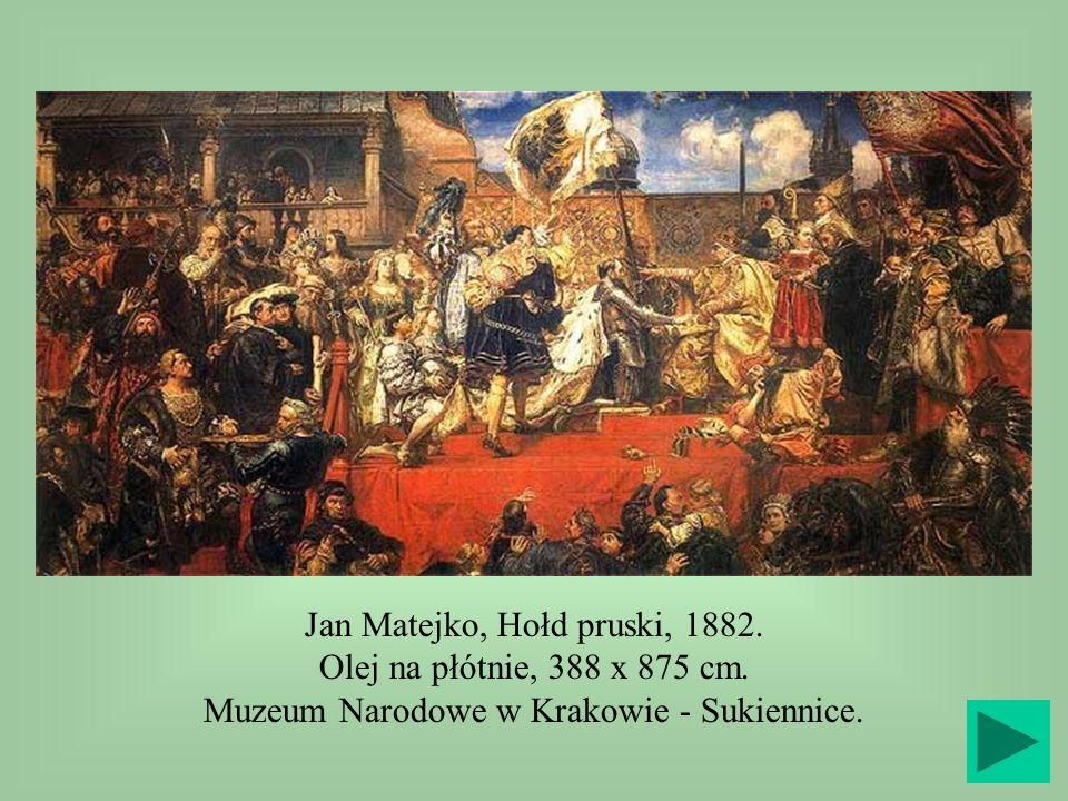 Jan Matejko, Hołd pruski, 1882.