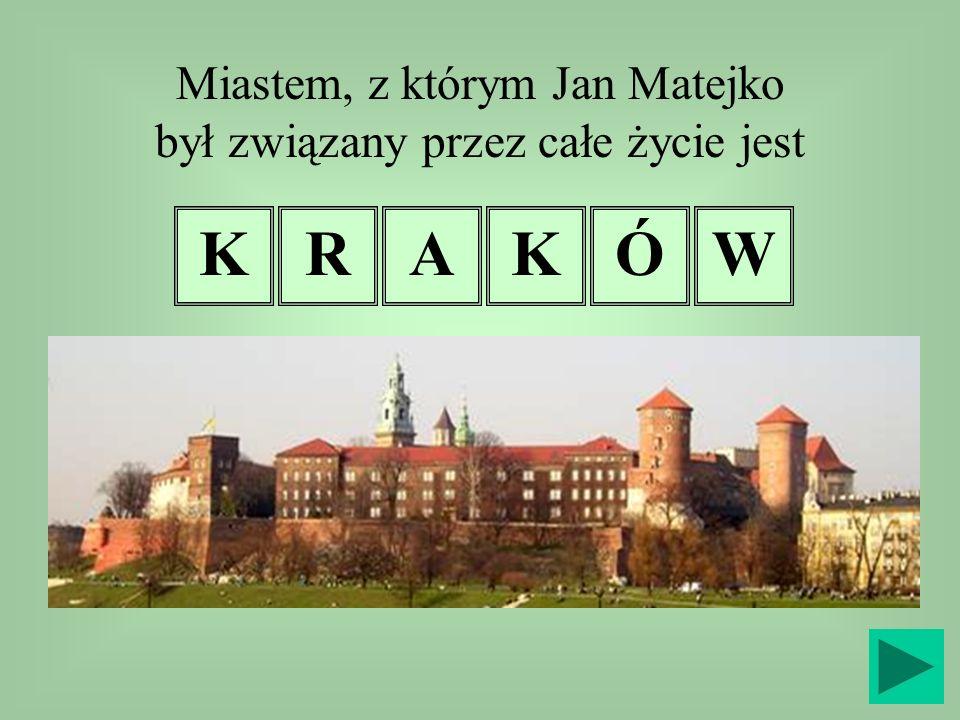 Miastem, z którym Jan Matejko był związany przez całe życie jest