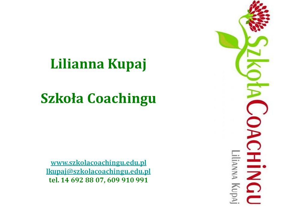 Lilianna Kupaj Szkoła Coachingu