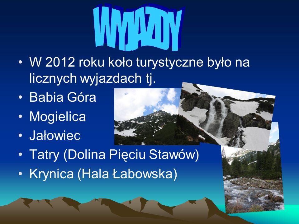 WYJAZDY W 2012 roku koło turystyczne było na licznych wyjazdach tj.