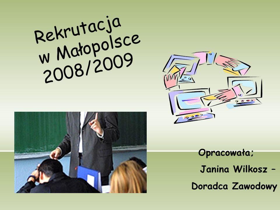 Rekrutacja w Małopolsce 2008/2009