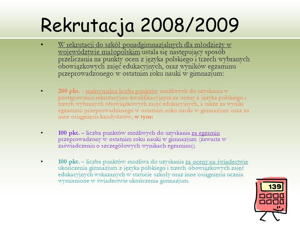 Rekrutacja 2008/2009