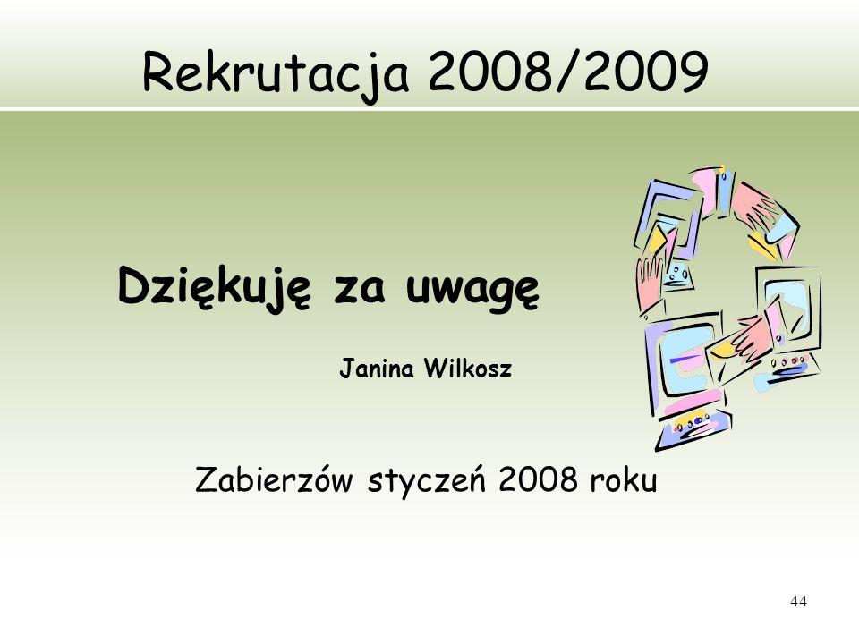 Zabierzów styczeń 2008 roku