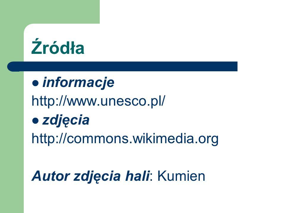 Źródła informacje http://www.unesco.pl/ zdjęcia