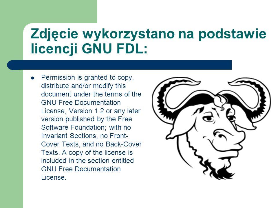 Zdjęcie wykorzystano na podstawie licencji GNU FDL: