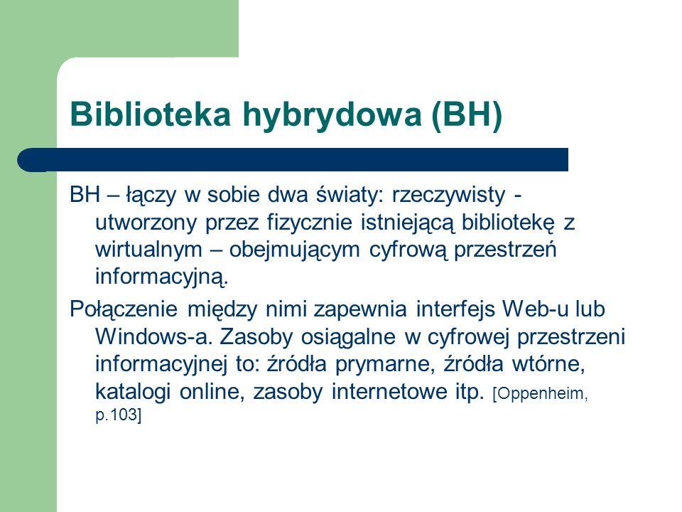 Biblioteka hybrydowa (BH)