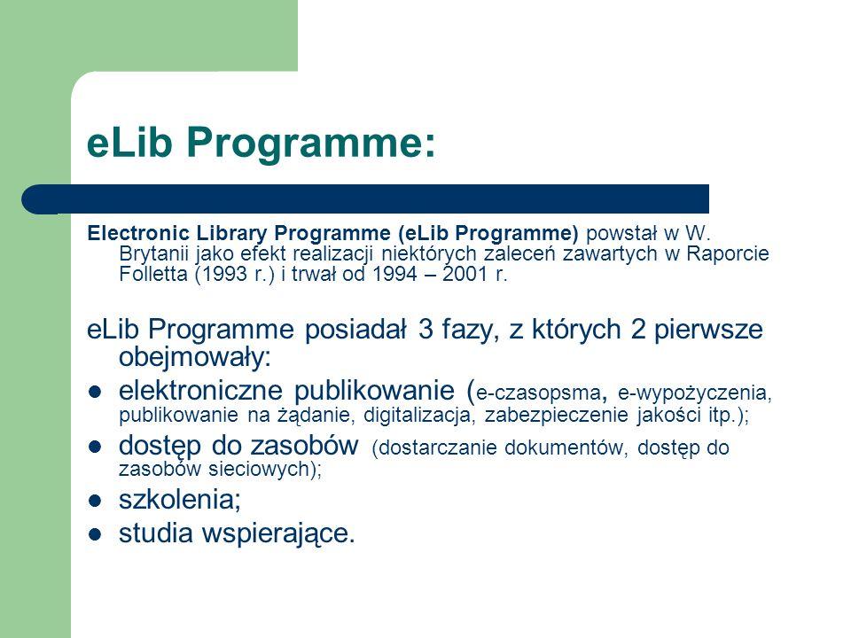 eLib Programme: