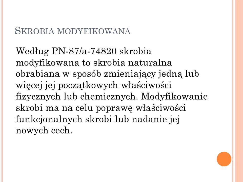 Skrobia modyfikowana