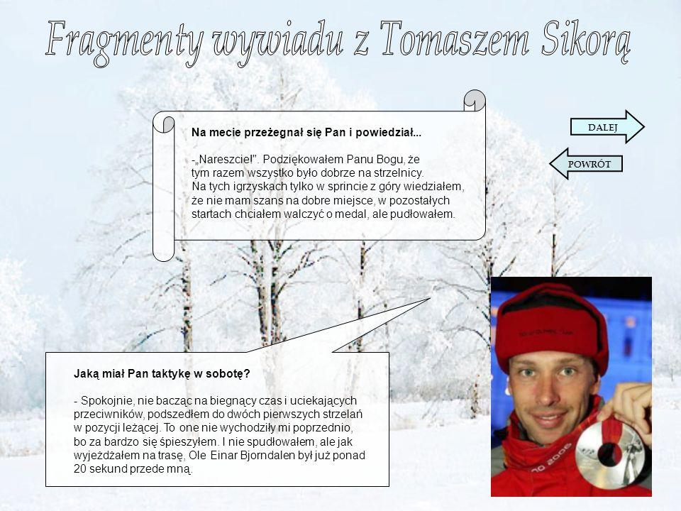 Fragmenty wywiadu z Tomaszem Sikorą