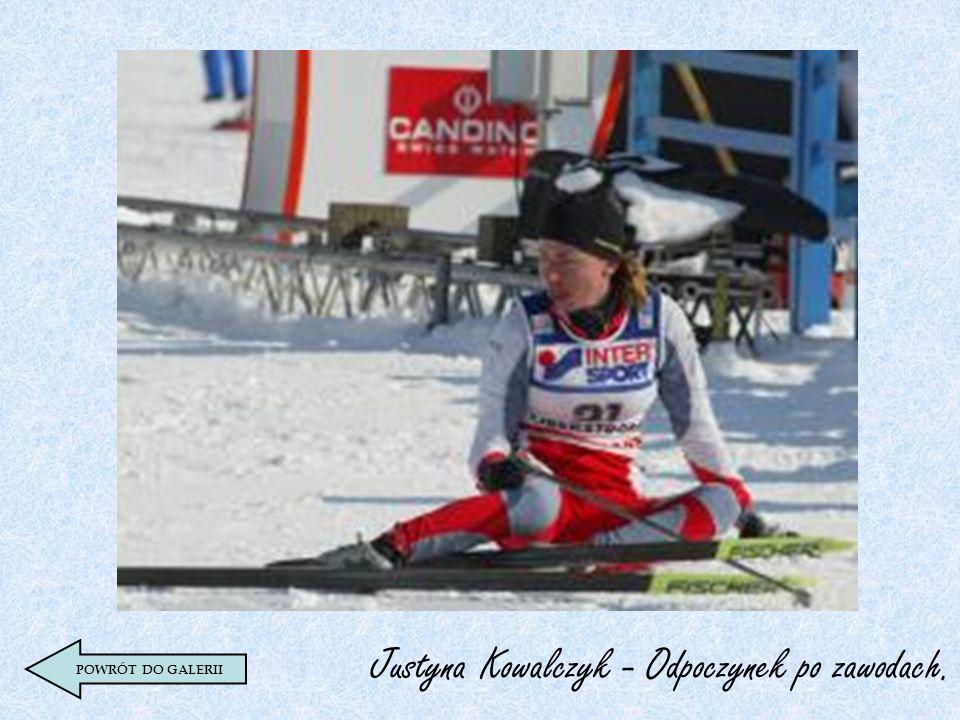 Justyna Kowalczyk - Odpoczynek po zawodach.