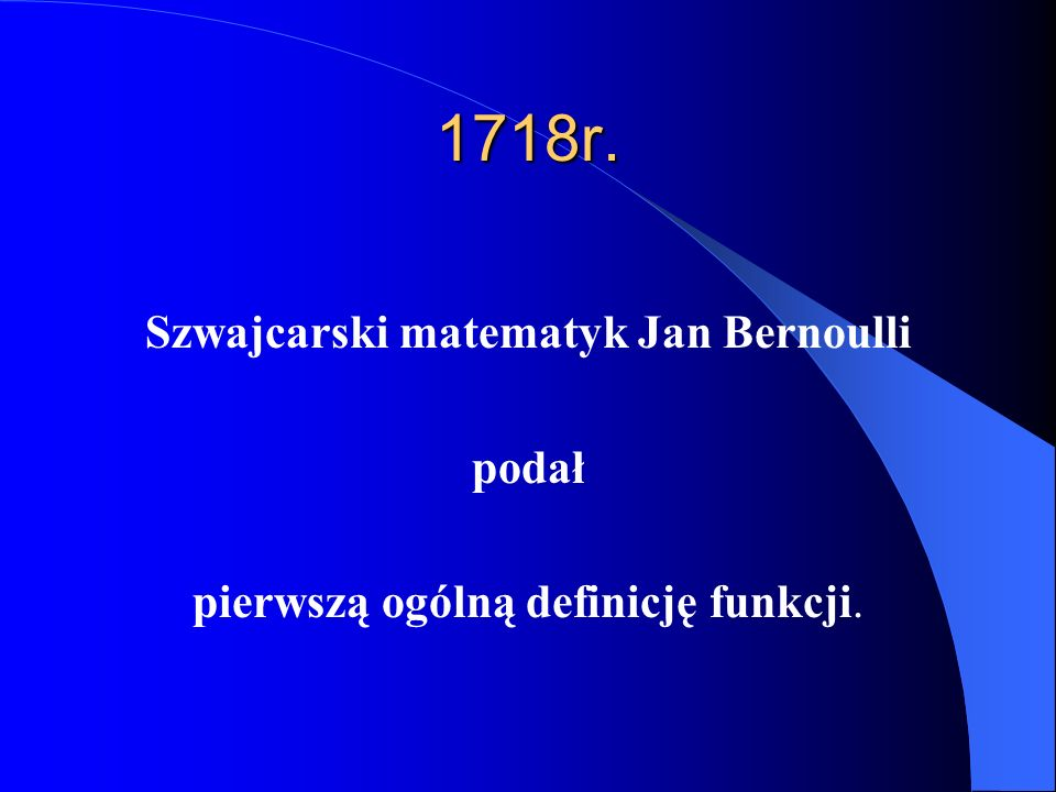 Szwajcarski matematyk Jan Bernoulli