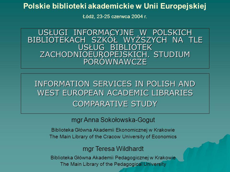 Polskie biblioteki akademickie w Unii Europejskiej