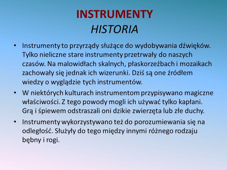INSTRUMENTY HISTORIA