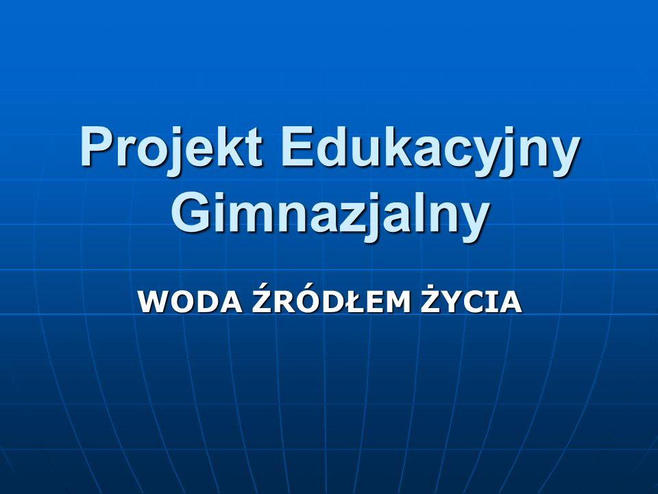 Projekt Edukacyjny Gimnazjalny