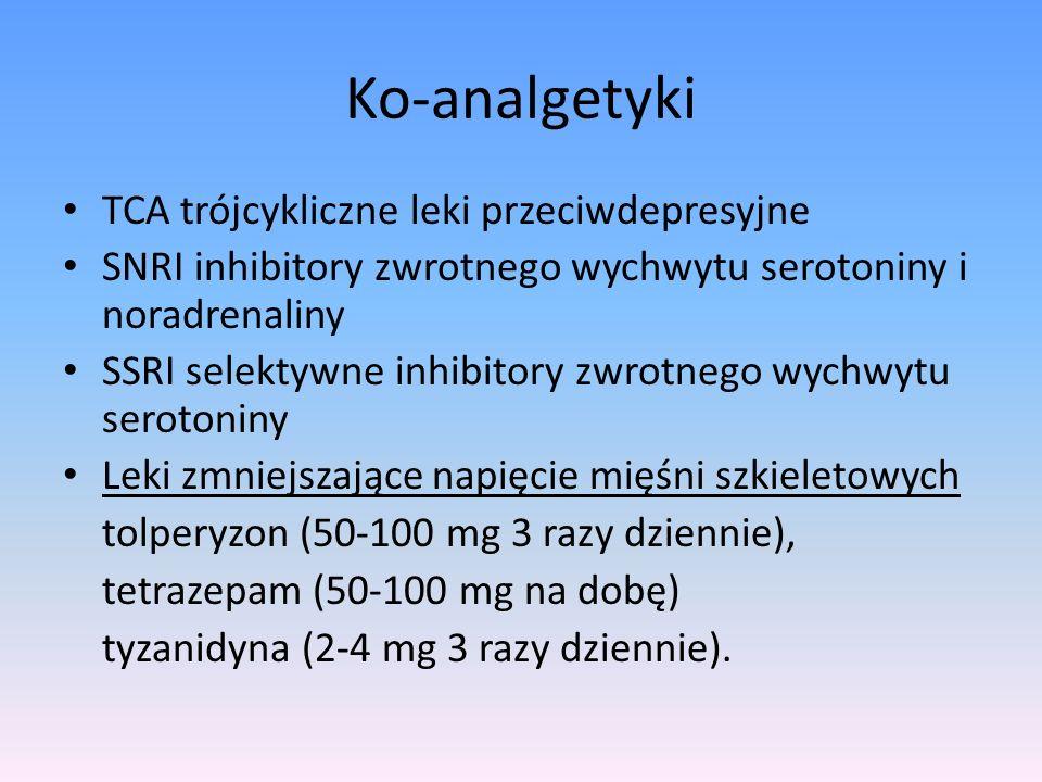 Ko-analgetyki TCA trójcykliczne leki przeciwdepresyjne
