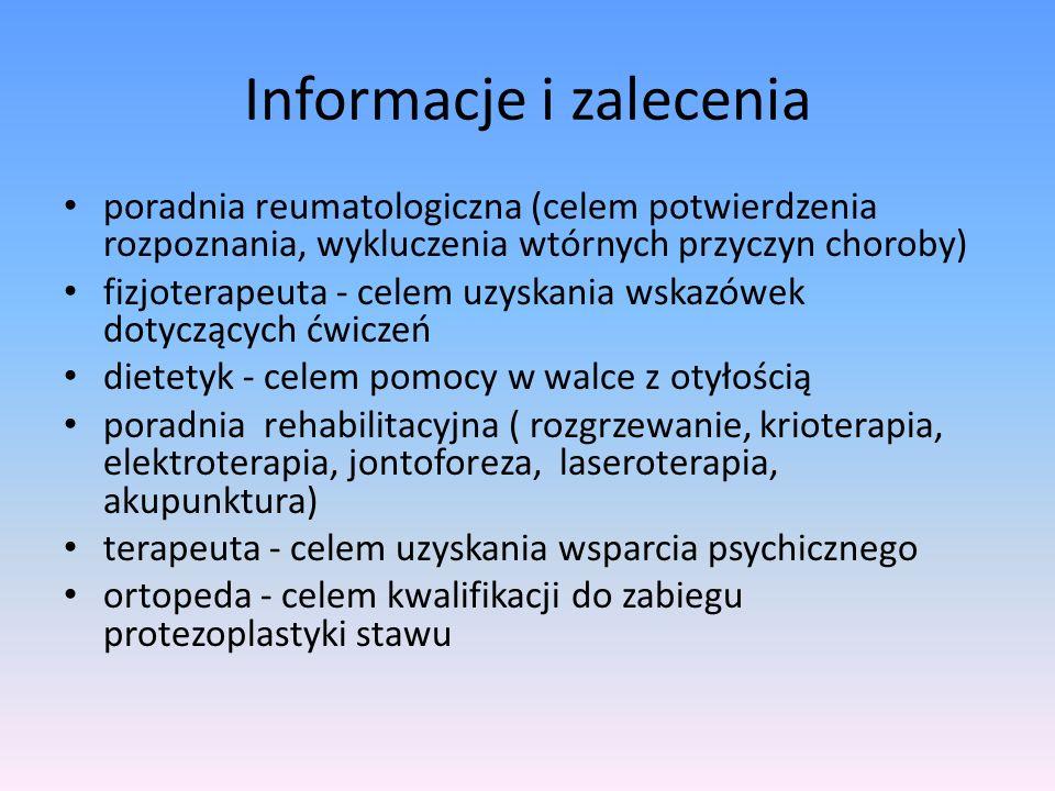 Informacje i zalecenia