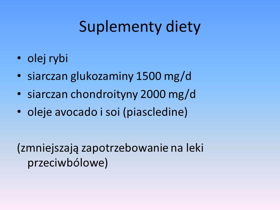 Suplementy diety olej rybi siarczan glukozaminy 1500 mg/d